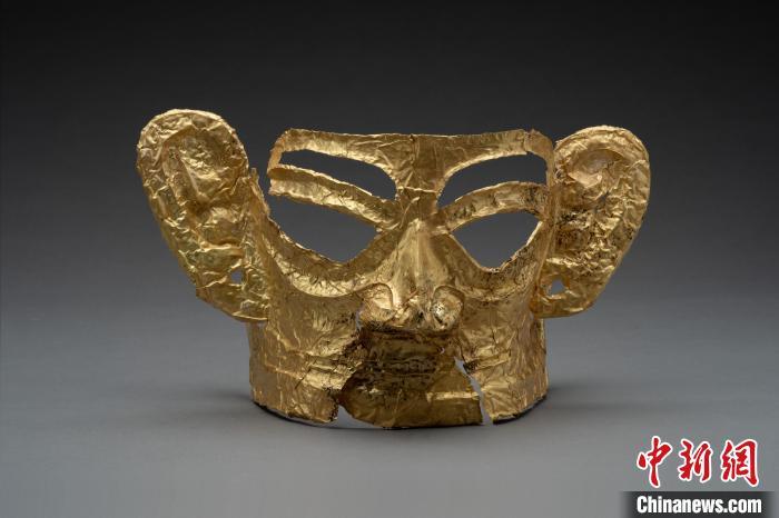 三星堆遗址考古新成果公布:发现迄今体型最大的完整金面具